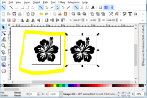 Embird Studio, making an SVG in Inkscape and instant